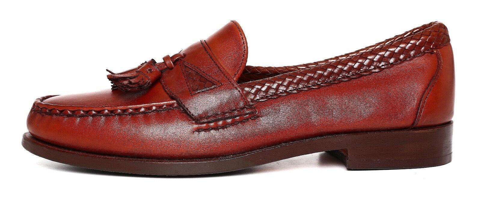 presa di fabbrica Allen Edmonds Maxfield Tassel Leather Slip On Loafers Marrone Uomo Uomo Uomo Sz 8.5 D 4151  prezzi più convenienti