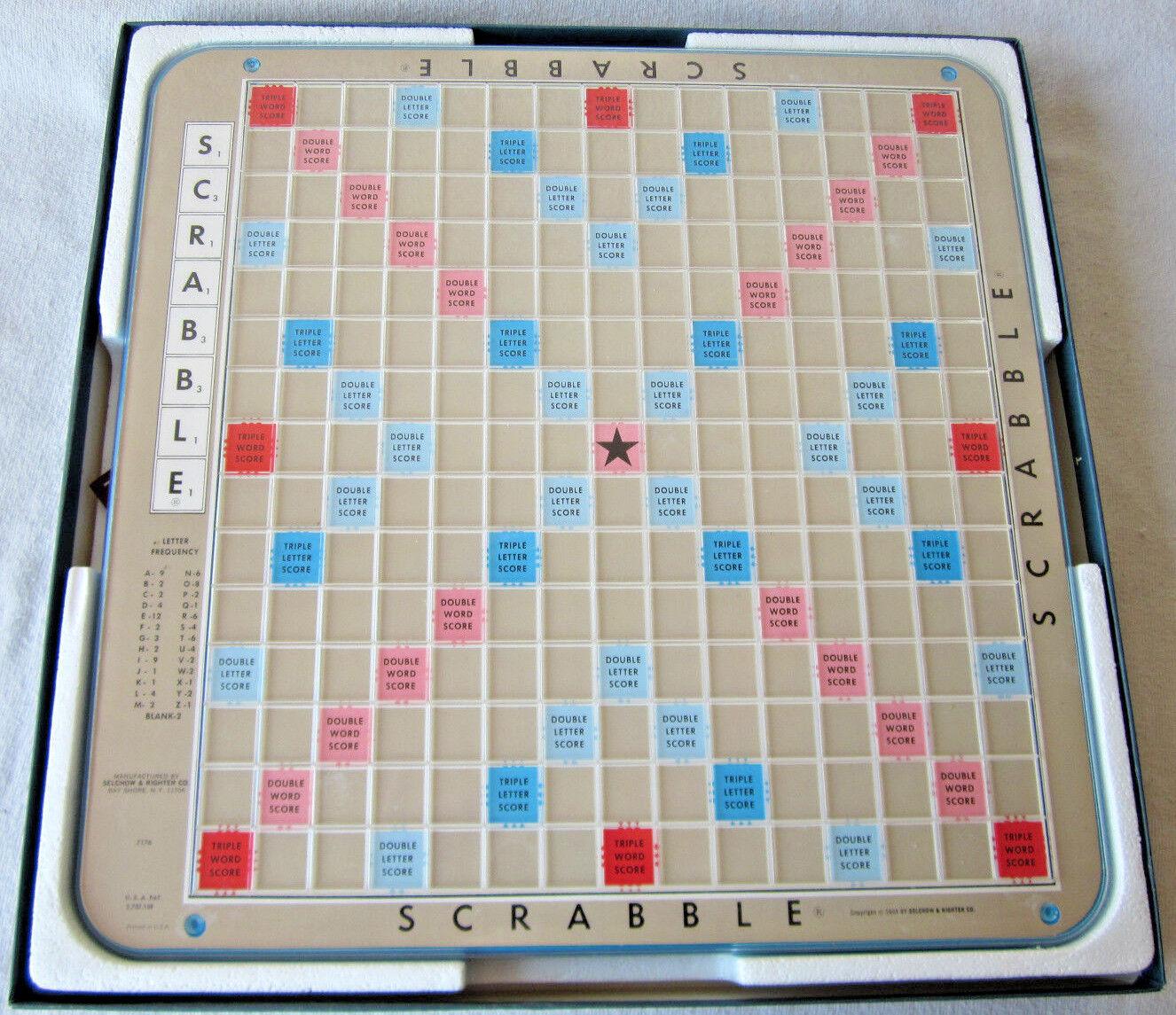 Jahrgang 1977 scrabble - deluxe edition drehscheibe brettspiel selchow & rechter.
