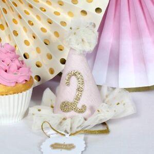 58bf15c9eeb Mud Pie Baby Girls  Birthday Party Head Band Hat 2t Two