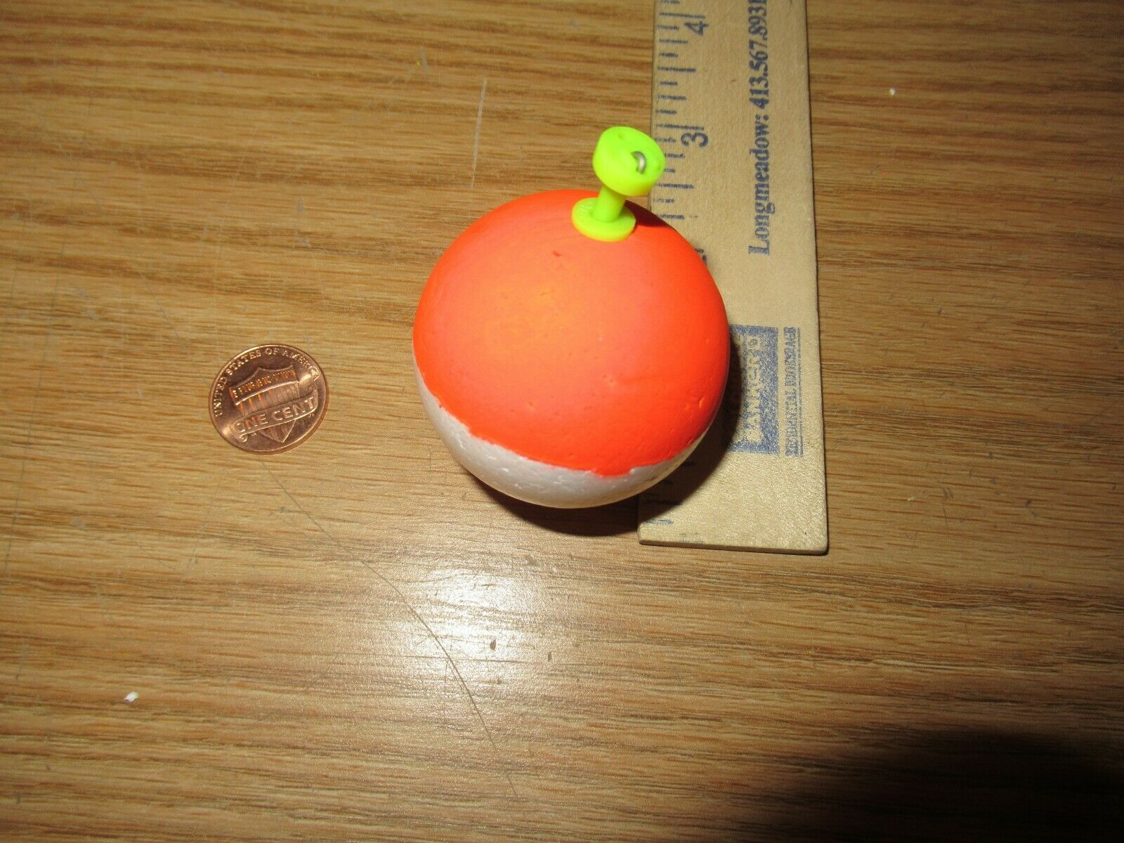 48 1.75  FISHING BOBBERS Round Weighted Floats rot   Weiß Foam SNAP ON FLOAT