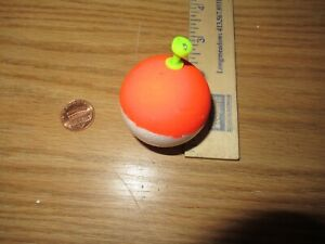 "24 .75/"" FISHING BOBBERS Round Floats Fluorescent Orange Foam SNAP ON FLOAT"