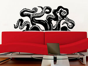 Image Is Loading Octopus Wall Decal Tentacles Vinyl Sticker Nautical Decals