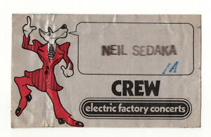 Details about Neil Sedaka July 31 1977 Philadelphia Electric Factory  Concerts Backstage Pass