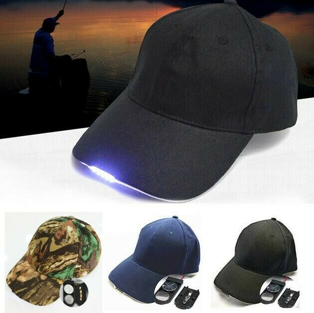 New 5LED Baseball Cap with Lights Adjustable Strap Hat Fishing Camping Hiking