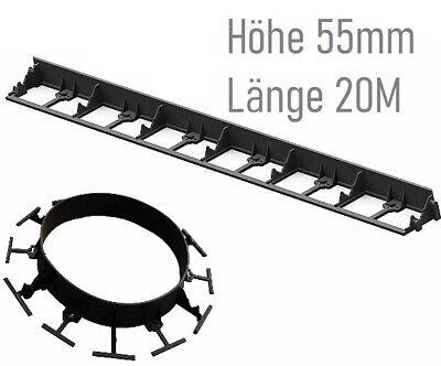 55mm Höhe Rasenkante Randbefestigung Beeteinfassung Pflasterkante Top Preis 20m