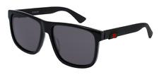 Gucci GG0010S Fashion Sunglasses 58mm - Black/Grey
