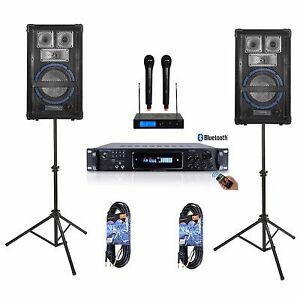 8-034-SPEAKER-SYSTEM-PRO-AUDIO-AMPLIFIER-MIXER-DJ-KJ-YOUTUBE-KARAOKE-PA-1600-WATTS