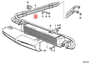 bmw e28 engine diagram genuine bmw e28 m5 535i sedan engine oil cooling pipe oem  genuine bmw e28 m5 535i sedan engine