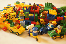 Lot of 300+ Lego Duplo Pieces! Includes People, Cars, Printed Bricks and More