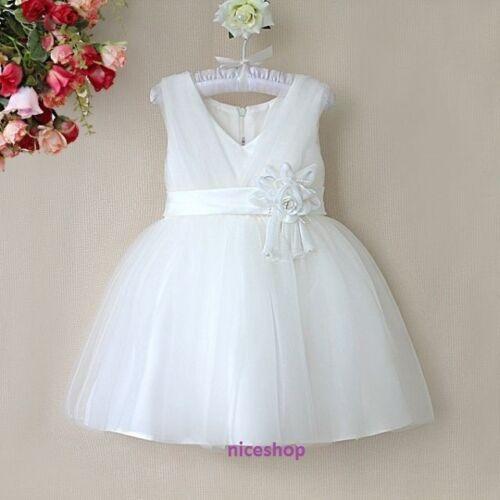 GIRLS FLOWER//Formal//Bridesmaid//Party//Princess//Prom//Wedding//Christening Dress