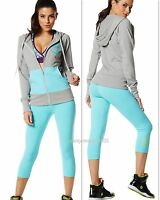 Zumba 3pc.set Hoodie Jumper Jacket+capri Leggings+vbra Elitezwearbeautiful
