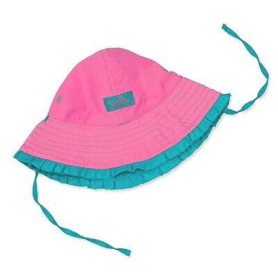 Affidabile Le Ragazze Upf50+ Rosa Double Face Cappello Da Sole Chin Cravatte Beach Swim Pioggia 2y Nuovo Con Etichetta-mostra Il Titolo Originale Modelli Alla Moda