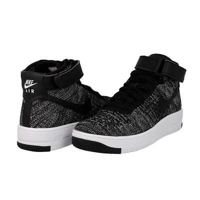 Youth Size 5.5 BLACK//BLACK-WHITE Nike Kids AF1 Ultra Flyknit Mid GS