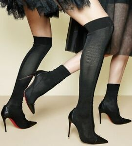 best sneakers 71d35 cbcee Details about Christian Louboutin Boots 38.5 Thigh High