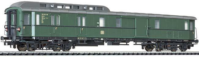 Liliput L329356   à Transparent   H0 Baggage-Post Bureau Wagon Db Ep.iii - green