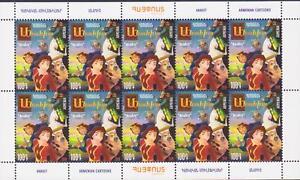 Armenian Cartoons Full Sheet Mnh Armenia Armenia Asia 230 Dram 2018 Children's Philately