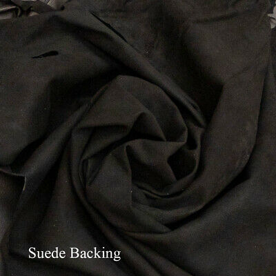 TOP GRAIN BLACK LAMBSKIN LEATHER SKINS 5.5  SQ FT MADE IN THE USA