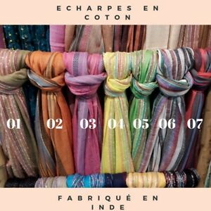 Foulard-Echarpe-indienne-en-coton-plus-de-60-modeles-dispo-Fabrique-en-Inde