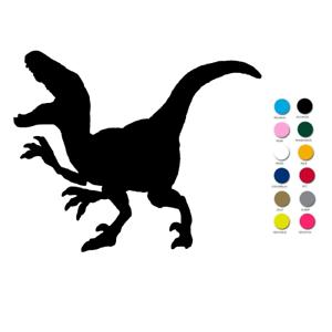 T Rex Dinosaurier Aufbügler Aufnäher Bügelbild T-Rex Schultüte orange stickerei