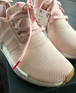 Details zu Womens Adidas NMD R1 Originals Trainers Shoes Pink White BB7588