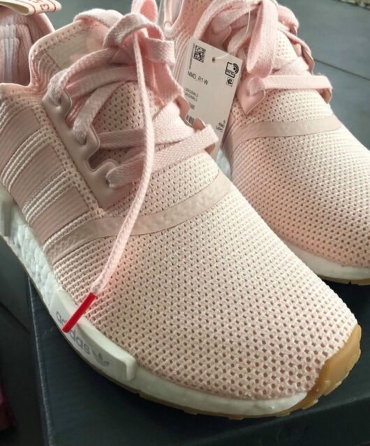 Adidas NMD_R1 W Women's Faded Pink White Running BB7588 Gym HTF Casual 6.5