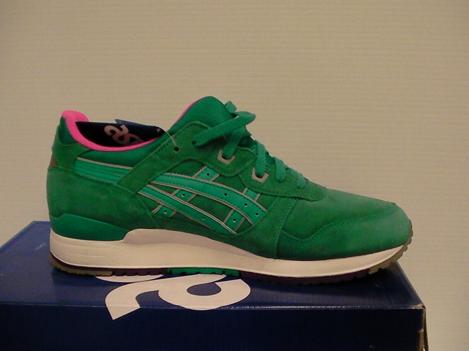 Asics running shoes gel-lyte iii size 9.5 us Uomo tropical green new with box