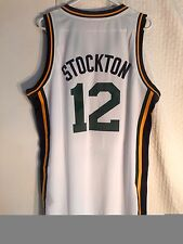 Adidas Swingman NBA Jersey Utah Jazz John Stockton White sz L