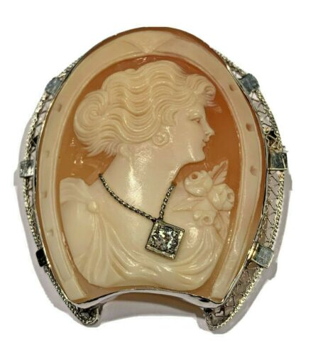 necklace Cameo Litho Cabachon sold by each in filigree setting