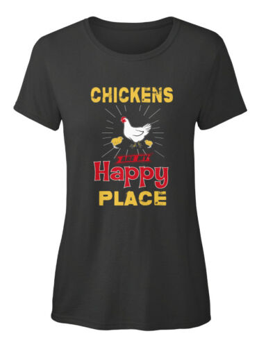 Chickens Happy Place Are My Standard Women/'s T-shirt