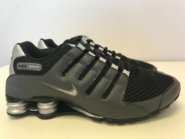 Mens Size 8 Nike Shox NZ Black/Metallic Silver-Dark Grey ...