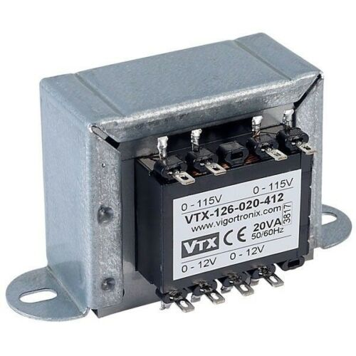 Vigortronix VTX-126-020-412 Chassis Transformer 2x115V 20VA12V+12V
