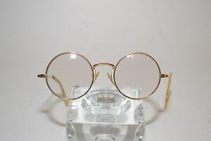 ab68c0887f3 Image is loading Vintage-Shuron-Eyeglasses-Frames-Round-s-c-U-S-A-Gold-Tone-