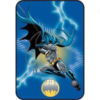 Brand Large D C Comics Batman 62 X 90 Twin Size Plush Blanket Lightning