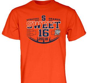2018 Ncaa Sweet 16 Sixteen Syracuse Orange Su Basketball Bracket T