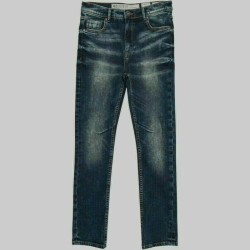 Boys Ripstop Classic Faded Denim Finish Skinny Jeans Sizes Age from 7 to 14 Yrs