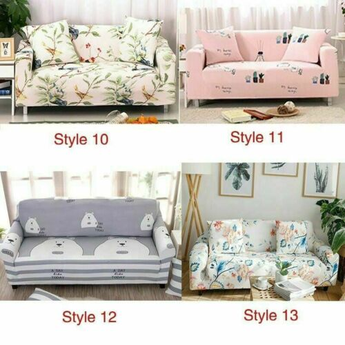 Sofa Couch Slipcover 1//2//3//4 Stretch Covers Elastic Fabric Settee Protector Fit