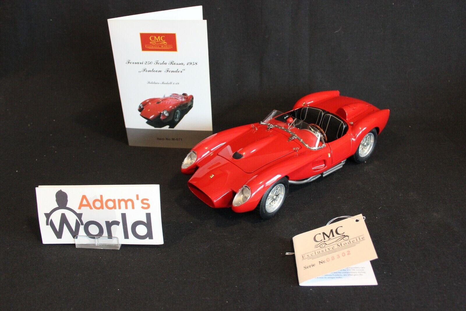 CMC Ferrari 250 Testa Rossa 1958 1 18 rojo  Pontoon Fender  (PJBB)
