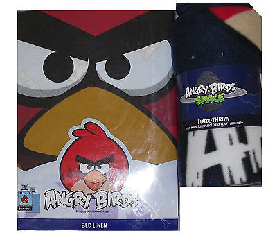 Collezione Qui Angry Birds Set Copripiumino Biancheria Da Letto O Angry Birds Coperta In Pile- In Viaggio