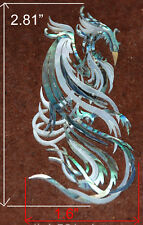 PH59# Phoenix Inlay in Abalone, White Mother of Pearl 1.5mm thickness