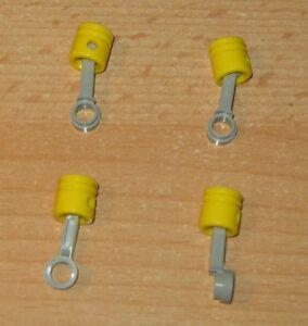 Lego-Technik-Pleulstangen-hell-grau-2852-und-4-Zylinder-gelb-2851-Teile-Motor