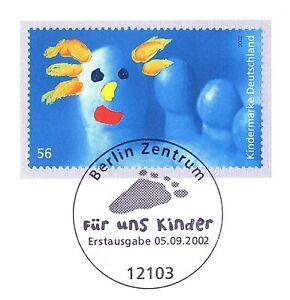 Confiant Rfa 2002: Enfants! Bloc Marque Nº 2280 Avec Le Berliner Ersttags Cachet! 1 A! 1806-l! 1a! 1806fr-fr Afficher Le Titre D'origine