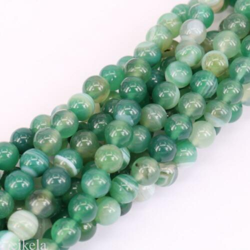 1Bunch Agate Round Gemstone Loose Spacer Beads Stone Jewelry 4//6//8//10//12mm Craft