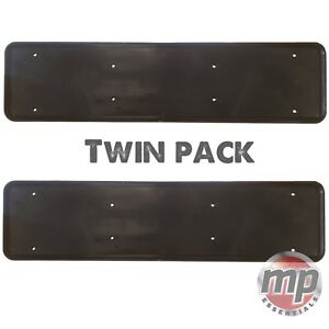 2-x-Front-amp-Rear-ABS-Plastic-Car-License-Number-Plate-Holder-Surround-in-BLACK