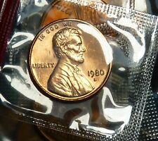 1980-P BU  RED Lincoln Cent IN MINT CELLO