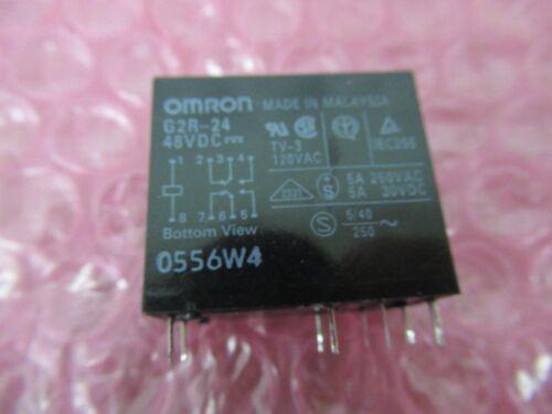 G2R-24-48VDC G2R-24 48V Omron DPDT 4A Non Latching