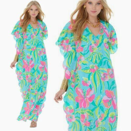 Lilly Pulitzer Belina maxi Kaftan tunic dress Cry