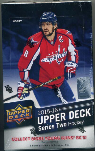 2015-16 Upper Deck Series 2 Hockey Hobby Box Connor McDavid Canvas Young Guns
