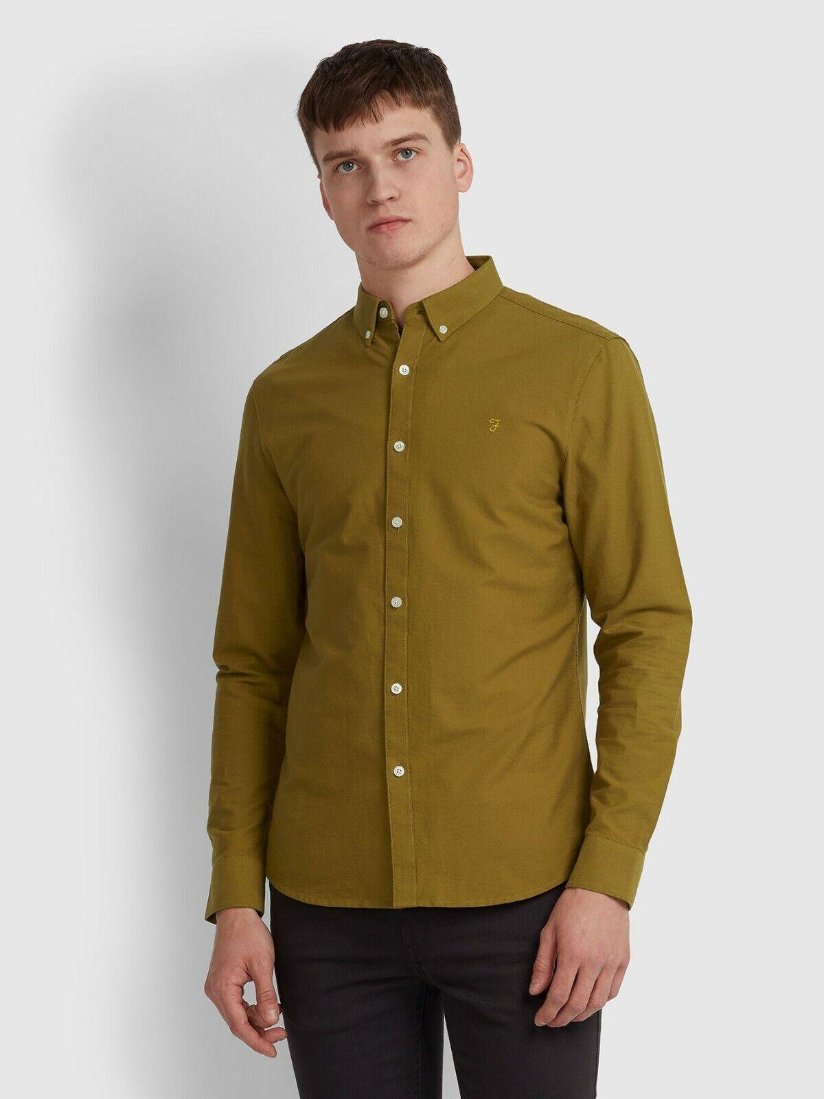 FARAH Mens Dennis Slim T-Shirt in SPANISH BROWN