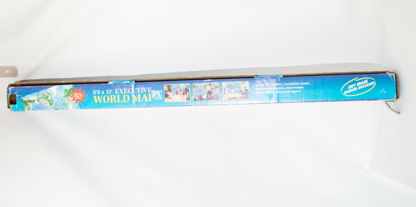 Executive World MAP GIANT WALL SIZE 8 FEET by 13 FEET Write on Write off