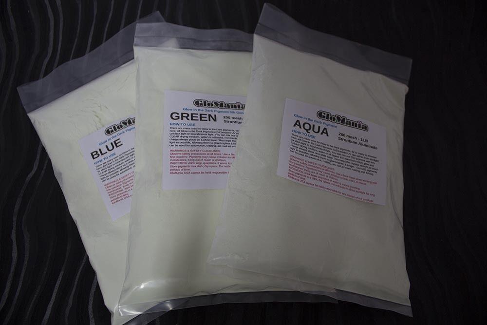 Strontium AQUA Glow in the Dark pigment powder 5th Gen 1lb Luminous